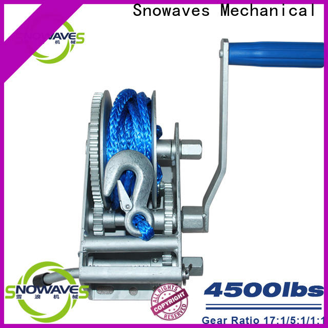 Snowaves Mechanical Wholesale marine winch manufacturers for camping