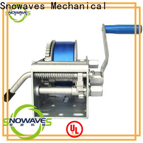 Snowaves Mechanical Wholesale marine winch factory for camp
