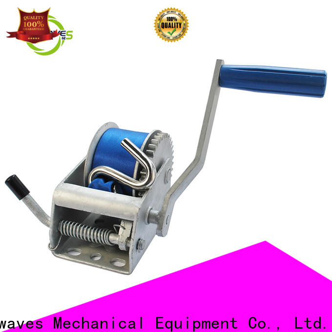 Latest boat hand winch single factory for boat