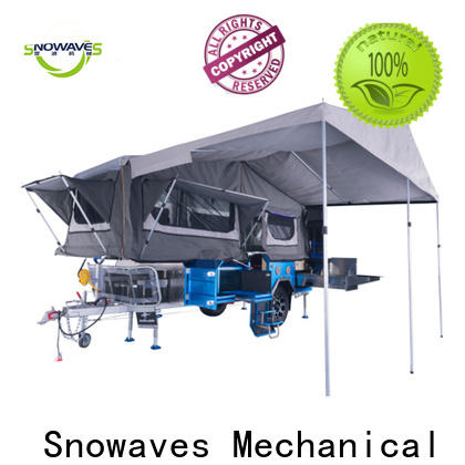 Snowaves Mechanical trailer foldable trailer for business for camp