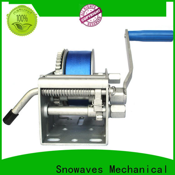 Snowaves Mechanical pulling marine winch manufacturers for camp