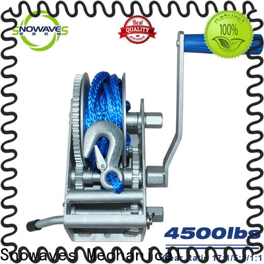 Snowaves Mechanical hand marine winch for sale for picnics