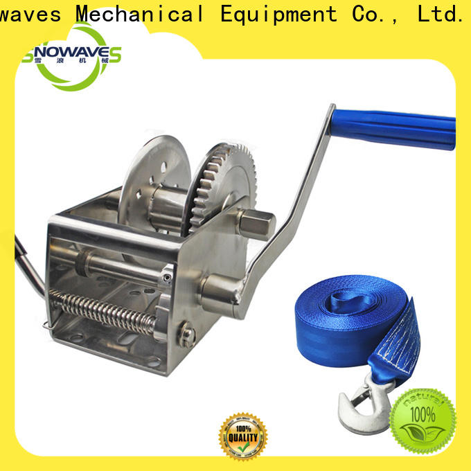 Snowaves Mechanical Wholesale marine winch company for one-way trips