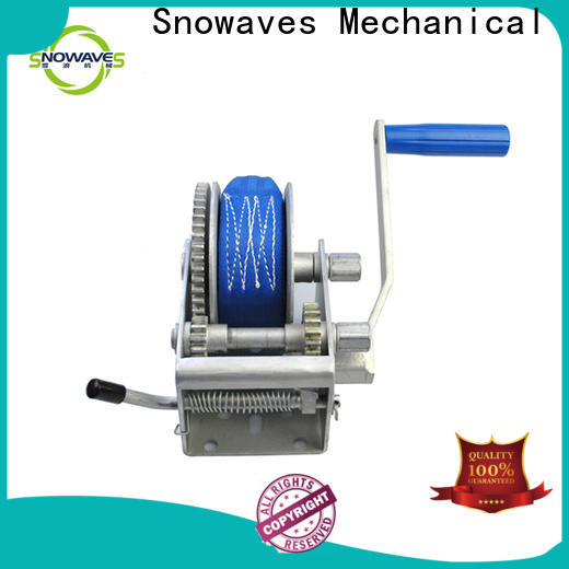 Snowaves Mechanical Top boat hand winch factory for car
