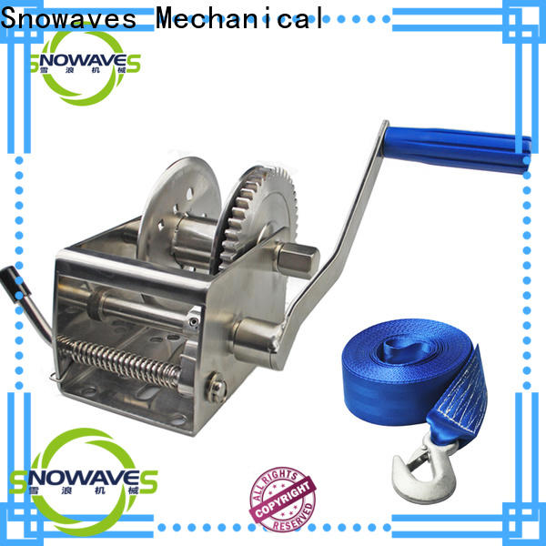 Snowaves Mechanical Custom marine winch suppliers for camping