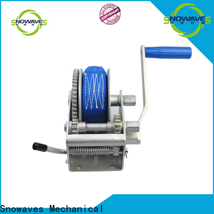 Snowaves Mechanical Custom manual trailer winch for business for outings