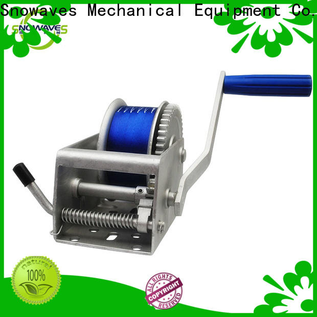 Snowaves Mechanical Latest marine winch suppliers for camping
