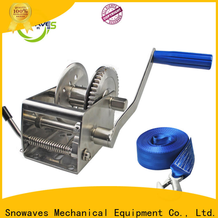 Snowaves Mechanical speed marine winch suppliers for one-way trips