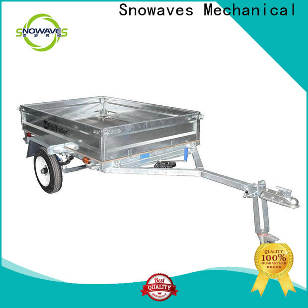 Snowaves Mechanical fold foldable trailer suppliers for activities