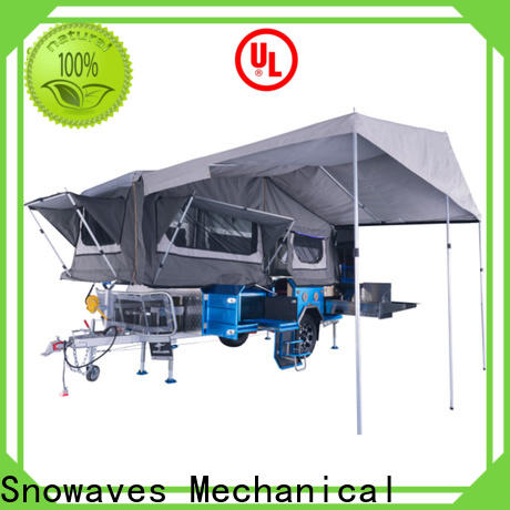Snowaves Mechanical quality fold up trailer for sale for accident