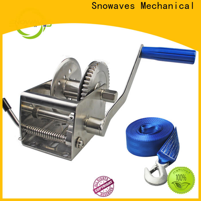 Snowaves Mechanical Best marine winch manufacturers for trips