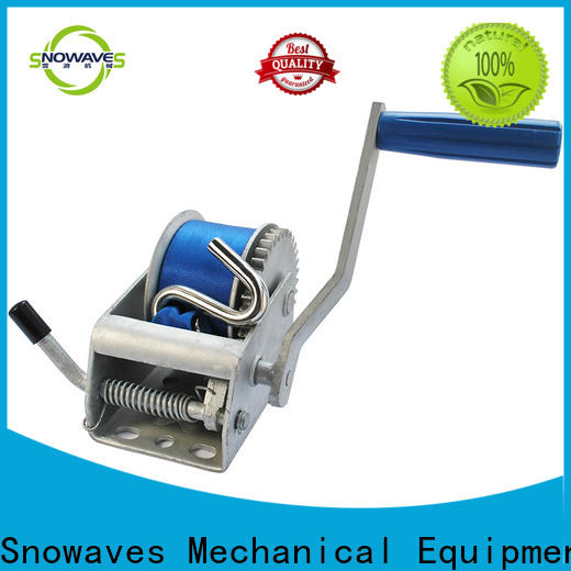 Snowaves Mechanical manual trailer winch company for car