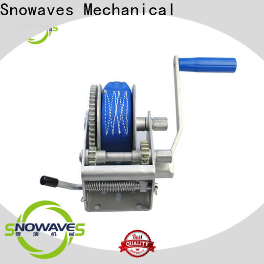 Snowaves Mechanical speed manual trailer winch factory for picnics
