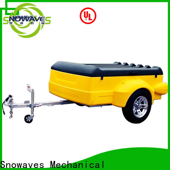 Snowaves Mechanical Custom luggage trailer company for no cable