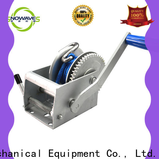 Snowaves Mechanical manual trailer winch manufacturers for outings