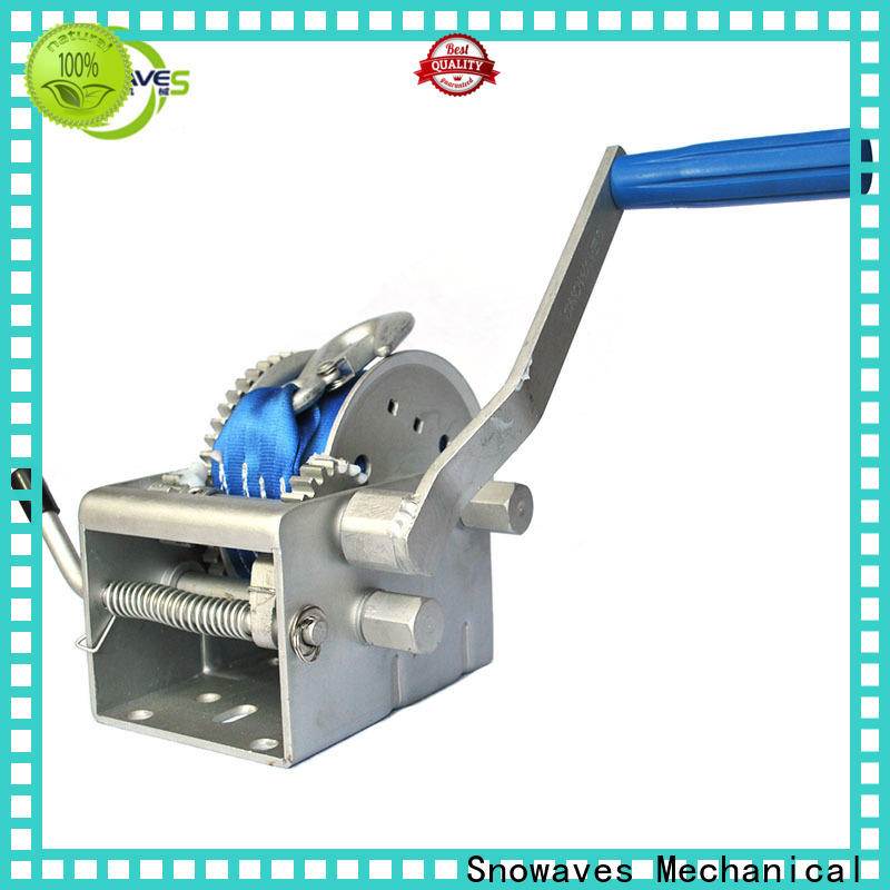 Snowaves Mechanical hand marine winch suppliers for one-way trips