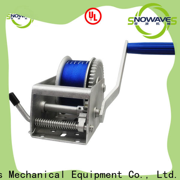 Snowaves Mechanical single marine winch manufacturers for camping
