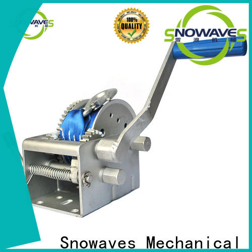 Snowaves Mechanical hand marine winch for sale for one-way trips