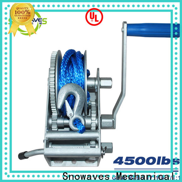 Snowaves Mechanical High-quality marine winch supply for camp