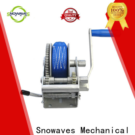 Snowaves Mechanical Wholesale boat hand winch suppliers for picnics