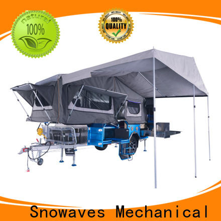 Snowaves Mechanical technical foldable trailer suppliers for trips