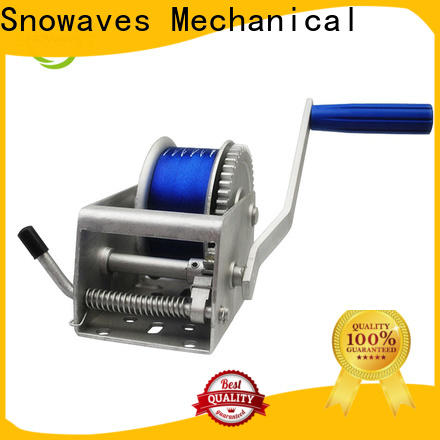 Snowaves Mechanical pulling marine winch factory for trips