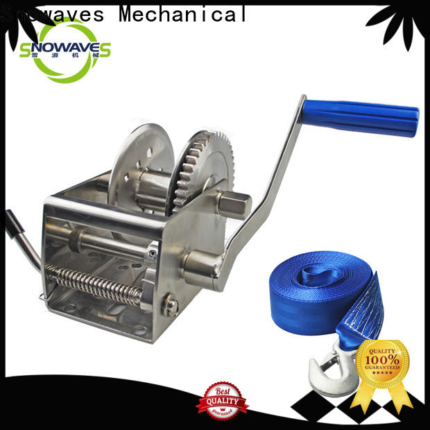 Snowaves Mechanical Best marine winch manufacturers for picnics
