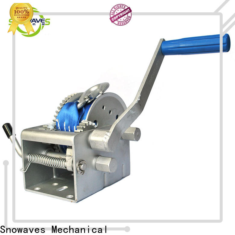 Snowaves Mechanical single marine winch manufacturers for picnics