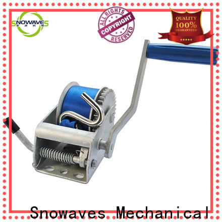 Snowaves Mechanical hand manual trailer winch manufacturers for outings