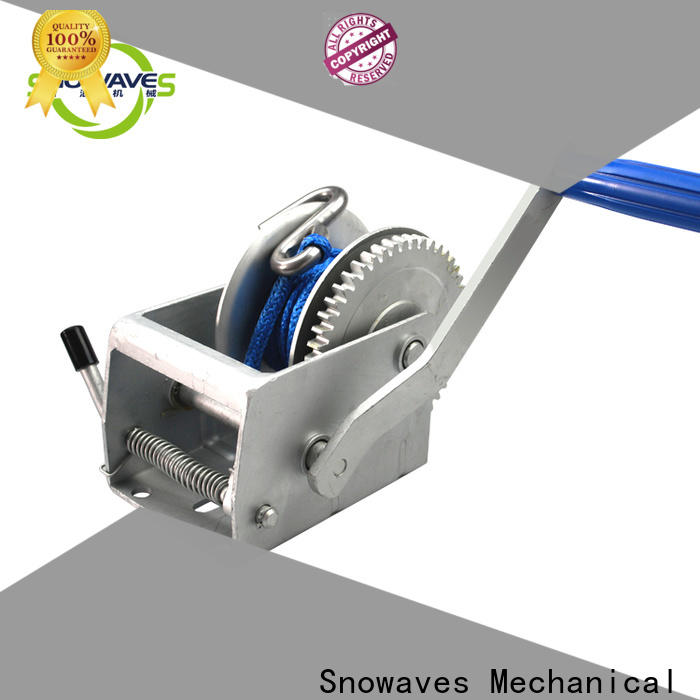 Snowaves Mechanical Custom boat hand winch suppliers for outings