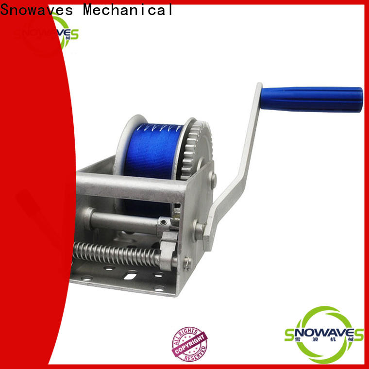 Snowaves Mechanical pulling marine winch factory for camp