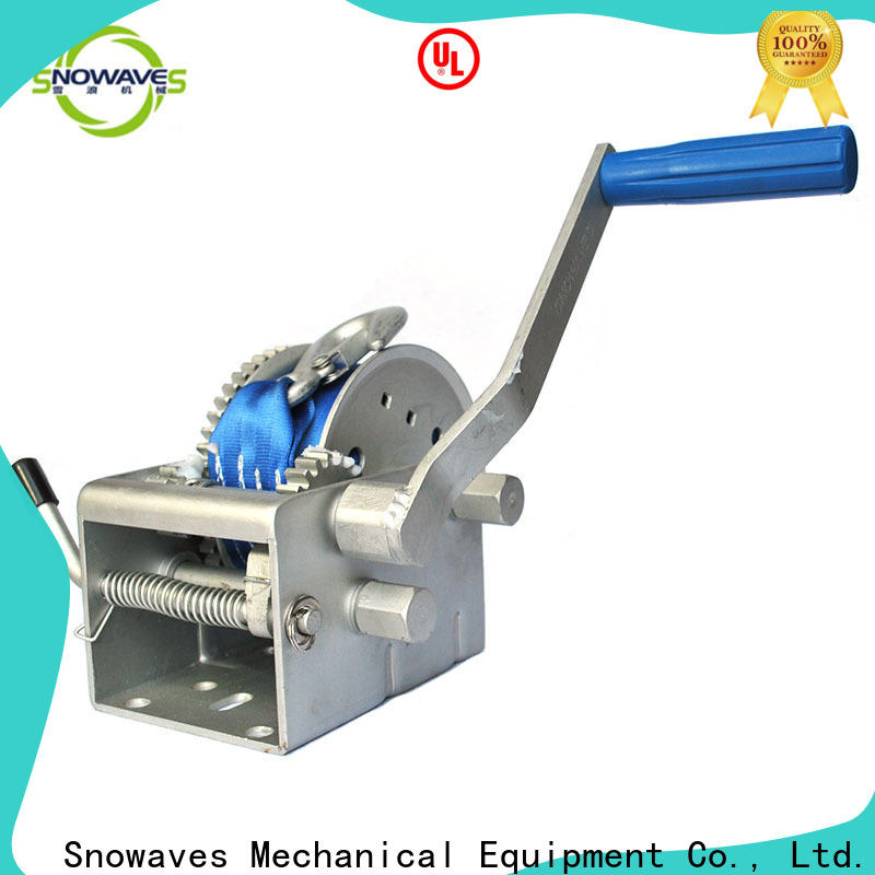 Snowaves Mechanical hand marine winch supply for one-way trips