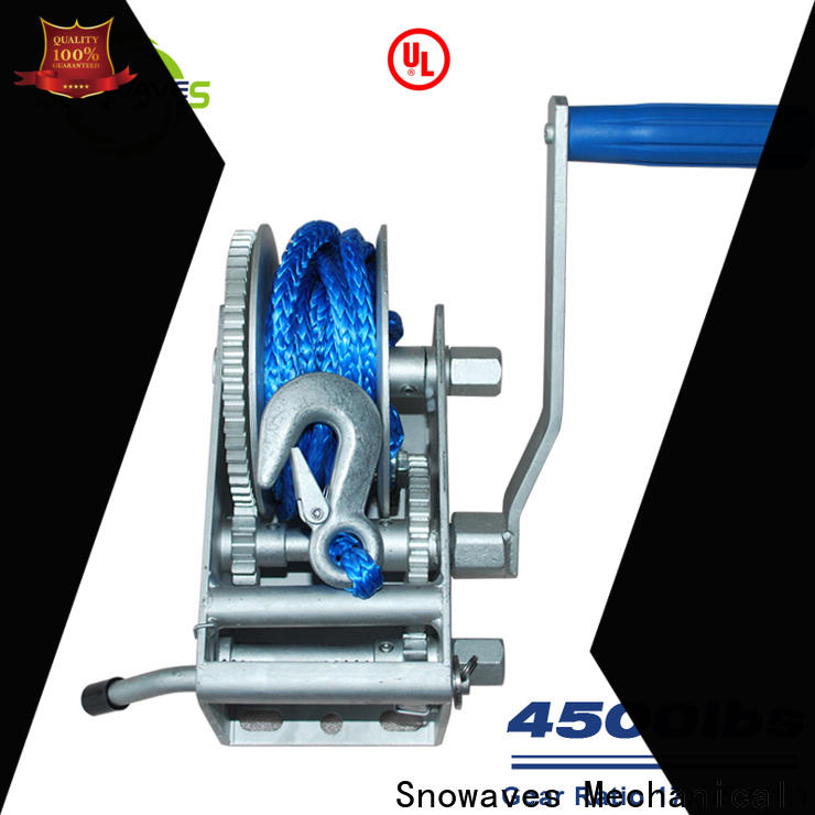 Snowaves Mechanical single marine winch for sale for trips