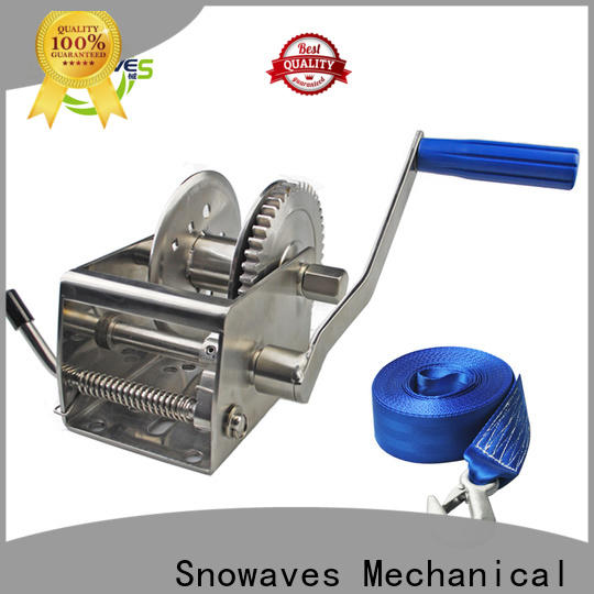 Snowaves Mechanical Top marine winch suppliers for camp