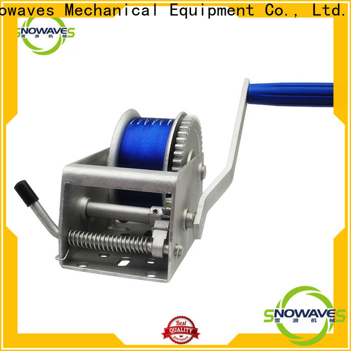 Snowaves Mechanical trailer marine winch factory for trips