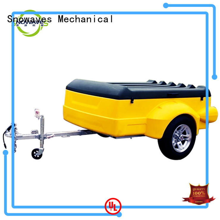 Snowaves Mechanical Latest luggage trailer company for outdoor activities