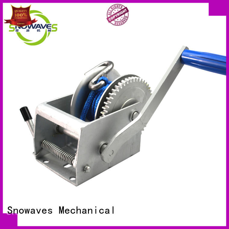 Snowaves Mechanical single hand winches at discount for camping