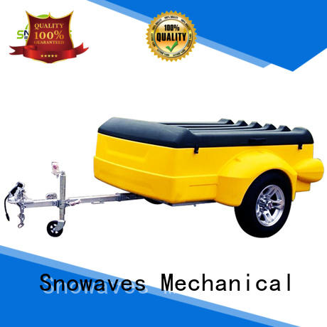 Snowaves Mechanical high-quality plastic dump trailer with Quiet Stable Motor for webbing strap