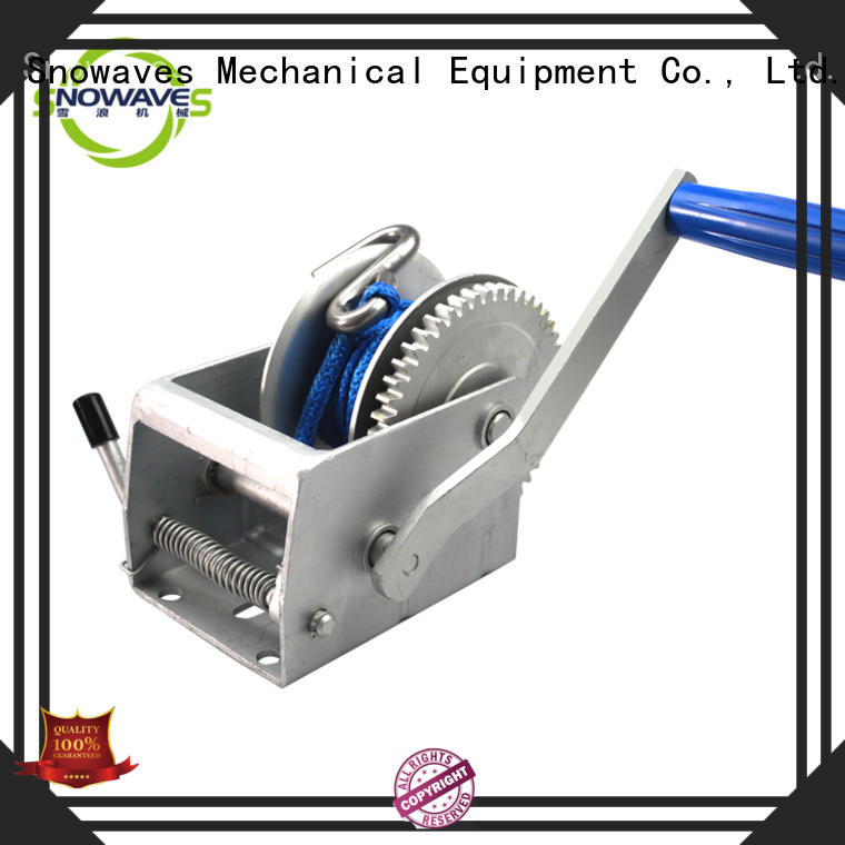 Snowaves Mechanical hand manual trailer winch supply for car