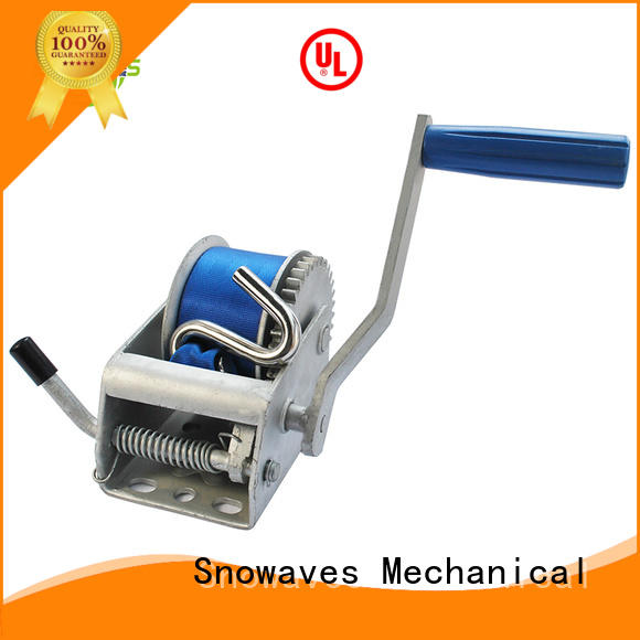 Snowaves Mechanical Wholesale boat hand winch Supply for outings