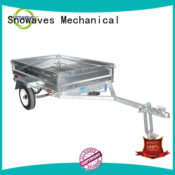 Snowaves Mechanical forward folding trailers manufacturers for camp