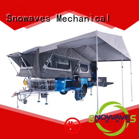 Snowaves Mechanical quality foldable trailer for business for activities