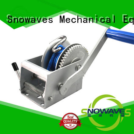 Snowaves Mechanical winch boat hand winch manufacturers for outings