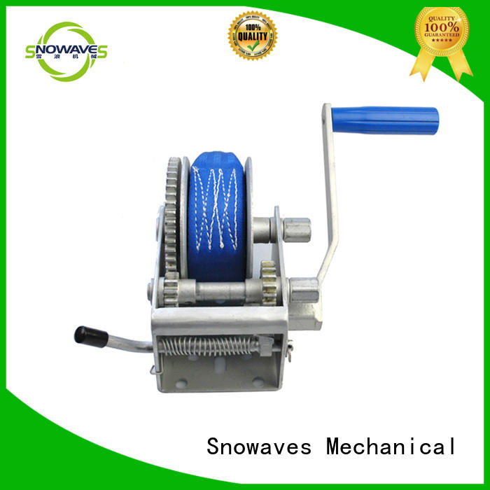 Snowaves Mechanical boat hand winch factory for camping