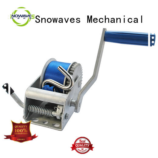 Snowaves Mechanical boat hand winch manufacturers for car