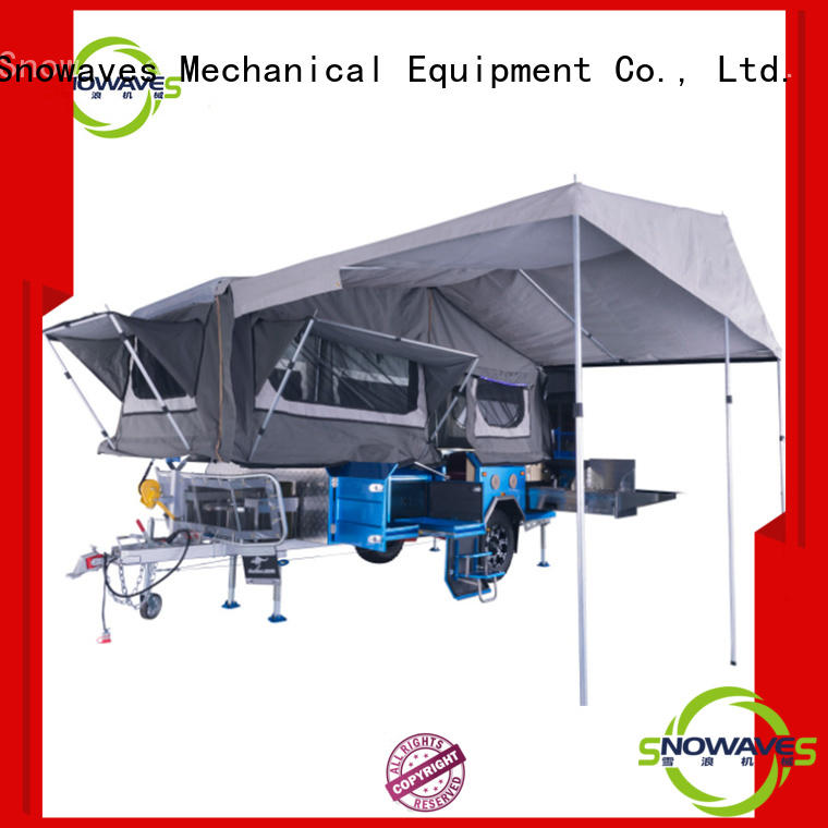 data fold up trailer  manufacturer for camp Snowaves Mechanical