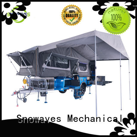 Snowaves Mechanical forward folding utility trailer manufacturers vendor for accident