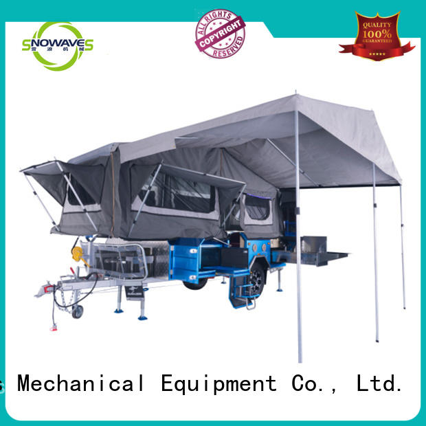 Snowaves Mechanical forward fold up trailer Suppliers for accident
