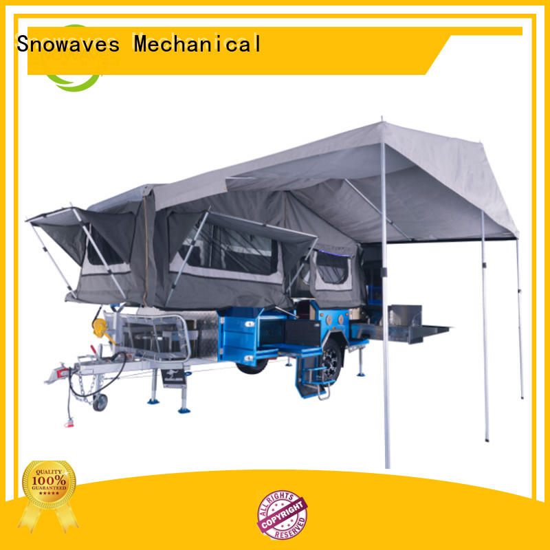 Snowaves Mechanical fold up trailer company for accident