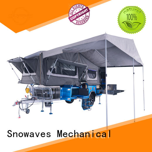 Snowaves Mechanical New fold up trailer factory for one-way trips